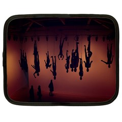 Silhouette Of Circus People Netbook Case (Large)