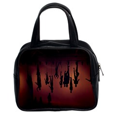 Silhouette Of Circus People Classic Handbags (2 Sides)