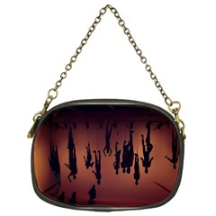 Silhouette Of Circus People Chain Purses (One Side)