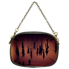 Silhouette Of Circus People Chain Purses (Two Sides)