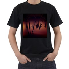 Silhouette Of Circus People Men s T-Shirt (Black)