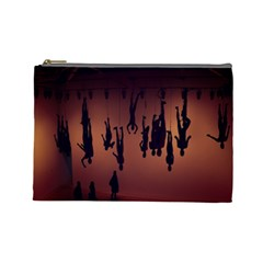 Silhouette Of Circus People Cosmetic Bag (Large)