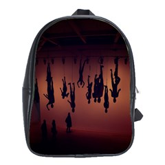 Silhouette Of Circus People School Bags(Large)