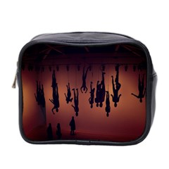 Silhouette Of Circus People Mini Toiletries Bag 2-Side