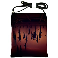 Silhouette Of Circus People Shoulder Sling Bags