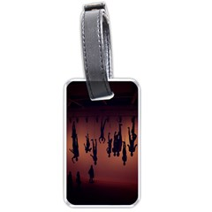 Silhouette Of Circus People Luggage Tags (One Side)