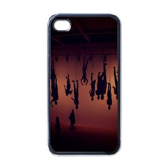 Silhouette Of Circus People Apple iPhone 4 Case (Black)
