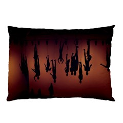 Silhouette Of Circus People Pillow Case (Two Sides)