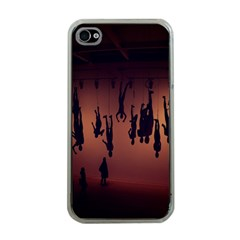 Silhouette Of Circus People Apple iPhone 4 Case (Clear)