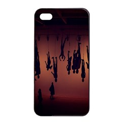 Silhouette Of Circus People Apple iPhone 4/4s Seamless Case (Black)