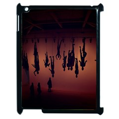 Silhouette Of Circus People Apple iPad 2 Case (Black)