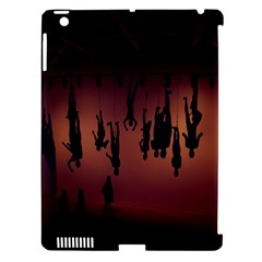 Silhouette Of Circus People Apple iPad 3/4 Hardshell Case (Compatible with Smart Cover)