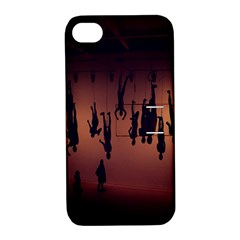 Silhouette Of Circus People Apple iPhone 4/4S Hardshell Case with Stand