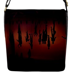 Silhouette Of Circus People Flap Messenger Bag (S)