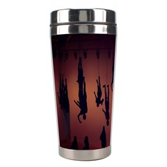 Silhouette Of Circus People Stainless Steel Travel Tumblers