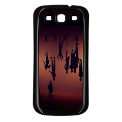 Silhouette Of Circus People Samsung Galaxy S3 Back Case (Black)