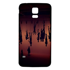 Silhouette Of Circus People Samsung Galaxy S5 Back Case (White)