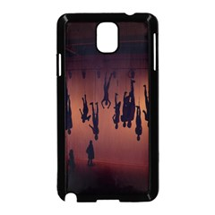 Silhouette Of Circus People Samsung Galaxy Note 3 Neo Hardshell Case (Black)