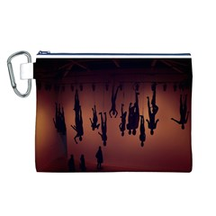 Silhouette Of Circus People Canvas Cosmetic Bag (l)