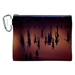 Silhouette Of Circus People Canvas Cosmetic Bag (XXL)