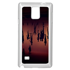 Silhouette Of Circus People Samsung Galaxy Note 4 Case (white)