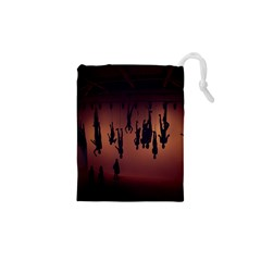 Silhouette Of Circus People Drawstring Pouches (XS)