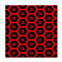 Red Bee Hive Texture Tile Coasters
