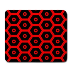 Red Bee Hive Texture Large Mousepads