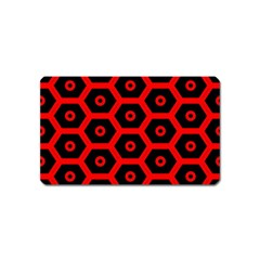 Red Bee Hive Texture Magnet (Name Card)