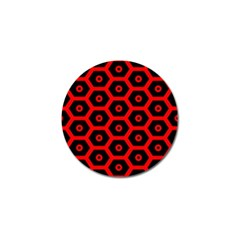 Red Bee Hive Texture Golf Ball Marker (4 pack)