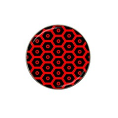 Red Bee Hive Texture Hat Clip Ball Marker (4 pack)