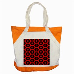 Red Bee Hive Texture Accent Tote Bag