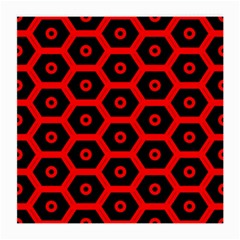Red Bee Hive Texture Medium Glasses Cloth (2-Side)