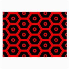 Red Bee Hive Texture Large Glasses Cloth