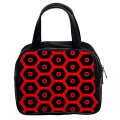 Red Bee Hive Texture Classic Handbags (2 Sides)