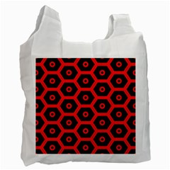 Red Bee Hive Texture Recycle Bag (One Side)