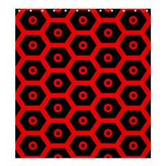 Red Bee Hive Texture Shower Curtain 66  x 72  (Large)