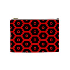 Red Bee Hive Texture Cosmetic Bag (Medium)