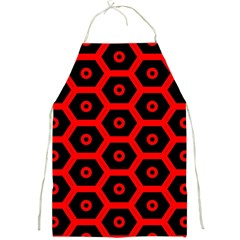 Red Bee Hive Texture Full Print Aprons