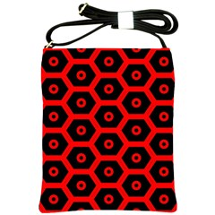 Red Bee Hive Texture Shoulder Sling Bags