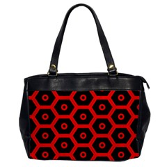 Red Bee Hive Texture Office Handbags