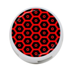 Red Bee Hive Texture 4-Port USB Hub (One Side)