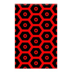 Red Bee Hive Texture Shower Curtain 48  x 72  (Small)