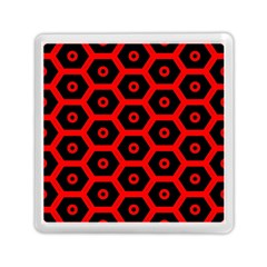 Red Bee Hive Texture Memory Card Reader (square)