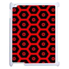 Red Bee Hive Texture Apple iPad 2 Case (White)