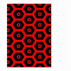 Red Bee Hive Texture Small Garden Flag (two Sides)