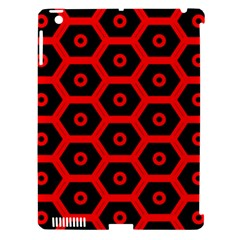 Red Bee Hive Texture Apple Ipad 3/4 Hardshell Case (compatible With Smart Cover)