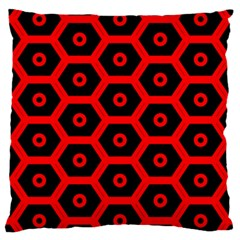 Red Bee Hive Texture Large Cushion Case (Two Sides)