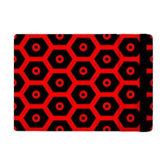 Red Bee Hive Texture Apple iPad Mini Flip Case