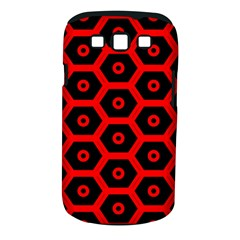 Red Bee Hive Texture Samsung Galaxy S III Classic Hardshell Case (PC+Silicone)